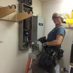 Kim installing new generator