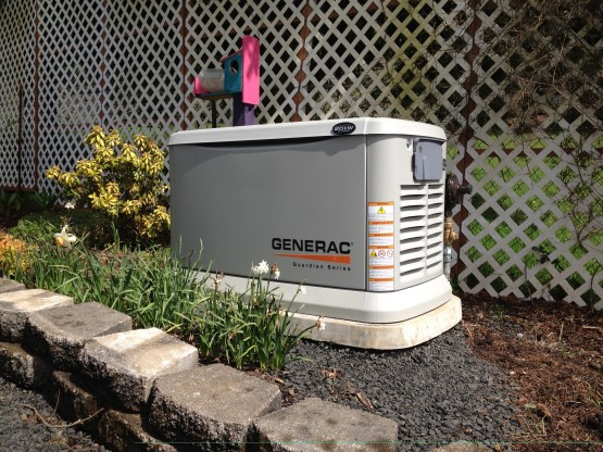 This generator backs up an entire house and well with the use of power management modules.  With everything completely automatic, this homeowner has no worries when the power goes out.