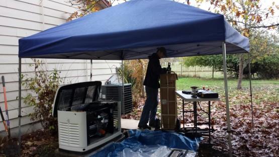 Generac installed in rain