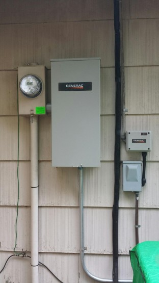 The whole house is protected with automatic standby power using power management.