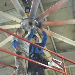 This 16' Powerfoil Fan from Big Ass Fans was installed in Southwest Airlines Cargo.